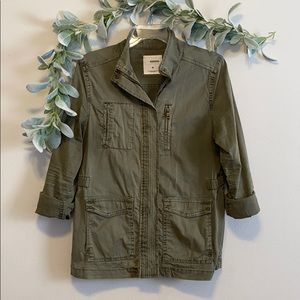 Army green utility jacket size small